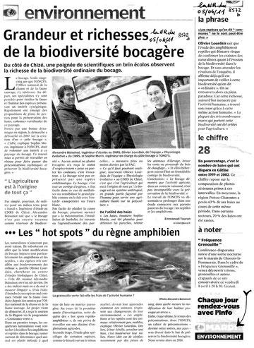 Nouvelle République du 05/04/2011