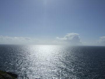 """Cabo Fisterra - Blick vom """"Ende der Welt"""" in Richtung Westen."""