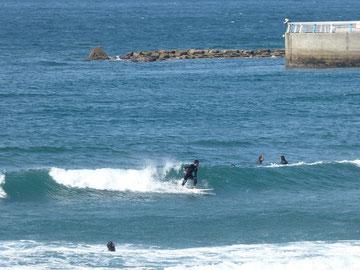 外気温は低かったですが、海は日差しもあって暖かかったです♪