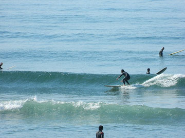 ロングは十分遊べる波でしたね。