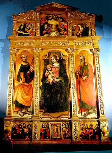 Stefano Sparano, Retable avec l'Annonciation, Naples, début du XVI e siècle, / Amiens, Musée de Picardie
