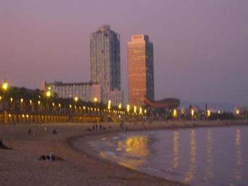 バルセロナのビーチ。