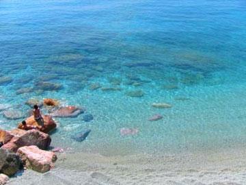 ブルーの海!