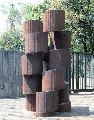 Time  <No.K-18>  / 1986 / cor-ten steel(耐候性鋼) / H.250x120x120cm