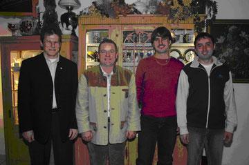 v.l. Obm. Josef NOWAK, Reinhard POPP, Christoph BAUER, Herbert EDER