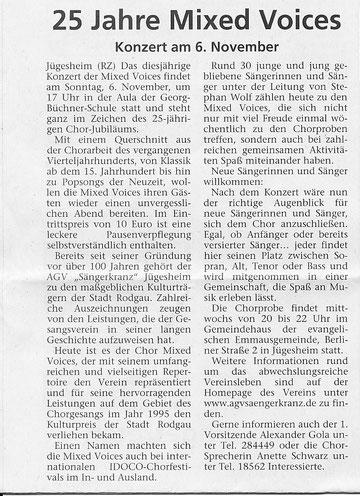 06.11.2010 - Jubiläumskonzert