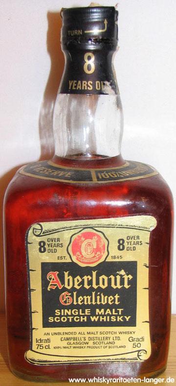 Shoulder label stats 50% Reserve 100 % unblended all Malt Whisky
