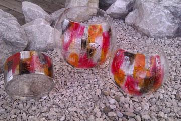 auch als Schale erhältlich €24,- sehr dickes Glas, wunderschön auch für Dekorationszwecke