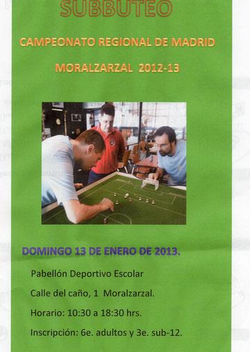 Cartel del campeonato regional a celebrar en Moralzarzal.
