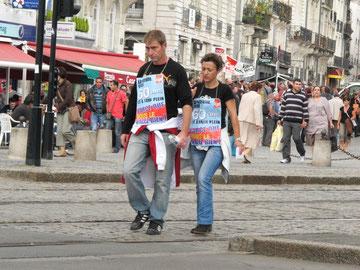 Manifestation pour la défense des Retraites.Nantes, Sept 2010