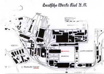 """DWK - Uboot Bunker """"Konrad"""" (Quelle: eigene Zeichnung)"""