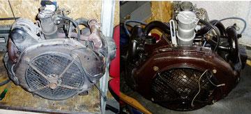 Der Motor wurde Teilrestauriert.
