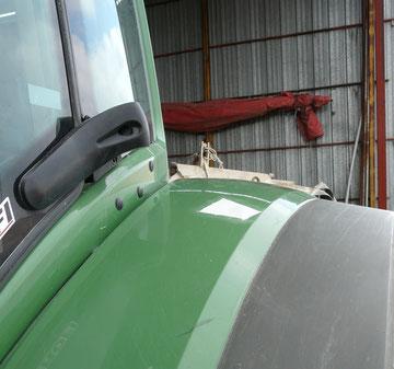 Réparation aile de tracteur
