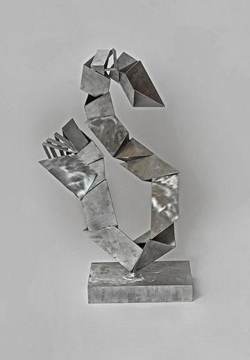 Zweifaltigkeit, 40 x 56 x 78 cm, Aluminium, 2005
