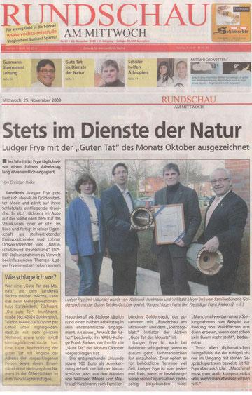25.11.2009 Rundschau am Mittwoch (Vechta)