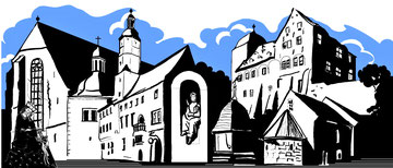 weißensee historische bauwerke grafik peter albach