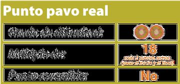 punto pavo real