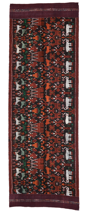 Pidan: weft ikat wall hanging, silk piece from Cambodia.