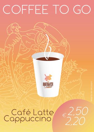 2012 Coffe to go Poster für Bortolotti by Cindy Leitner