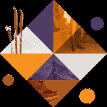 Image représentant une composition graphique qui illustre les sabots fermés, les sabots d'hiver et les bottines pour homme
