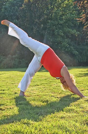 Pilates und Yoga im Freien