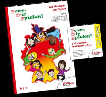 123 Übungen und Spiele, cahier d'allemand, CD-Rom, Philipus-Education