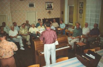 Chorprobe im Kronesälchen 1989
