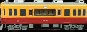 目覚まし時計 オリジナル電車型/バス型 側面