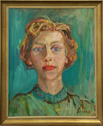 Rolf Seilaz (1904-1984) Odette Giacometti ca. 1965-1966 Oel auf Leinwand 41x33cm, Kunsthaus Zürich, Legat Bruno Giacometti, 2012 Inv.Nr 2012/103