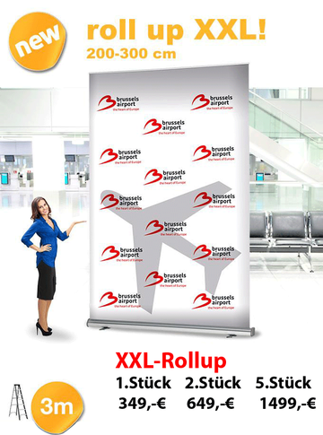 xxl rollup display 3 meter