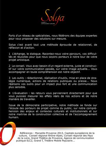 Plaquette présentation agence conseil Solya
