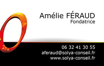 Carte de visite Amélie Féraud fondatrice Solya