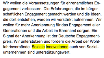 Screenshot Koalitionsvertrag 2013, S. 78