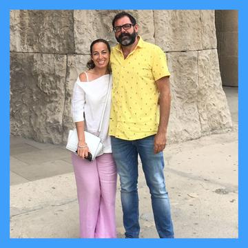 GUIAS TURÍSTICOS EN BARCELONA. LUANA Y JAIME