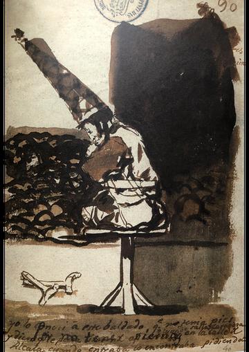 "Francisco De Goya, ""Perché è privo di gambe"" (1814-1823)"