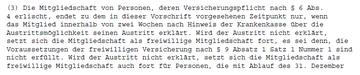 § 190 Absatz 3 Sozialgesetzbuch V