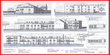 Extrait des plans de l'immeuble envoyés par la Mairie de Septeuil
