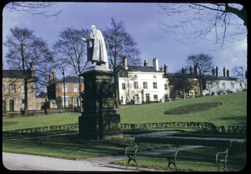 Photograph by Phyllis Nicklin taken in 1954 of a bronze statue of King Edward VII in Highgate Park. Made in 1913 it formerly stood in Victoria Square and is now in Centenary Square. See Acknowledgements, Keith Berry.