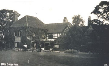 Hall Green Hall. Image from the Acocks Green History Society website, use permitted for non-commercial or educational purposes.