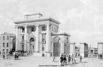 Curzon Street Station. Grateful thanks for the use of this image to Mike Musson, Warwickshire Railways. All Rights Reserved. See Acknowledgements.