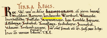 Lindsworth's entry in the Domesday Book from the Open Domesday website. See Acknowledgements.