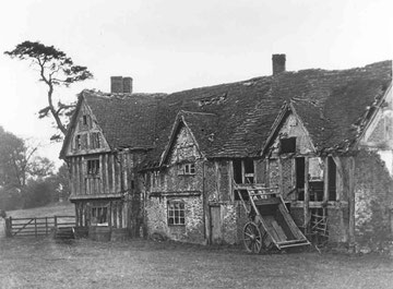 Swanshurst Farm just before demolition - origin of image unknown.