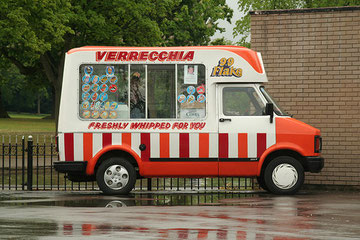 A Verrecchia ice cream van at Cannon Hill Park. © This 'All Rights Reserved' photograph is reproduced here courtesy of Trav28 Photography 2009 on flickr. See Acknowledgements.