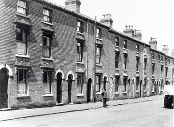 Alexandra Street, a typical 19th-century Ladywood street, now demolished