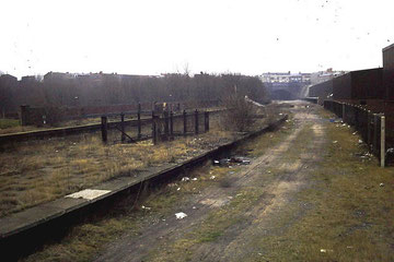 Remains of Hockley Station in the 1980s - photograph by Michael Westley