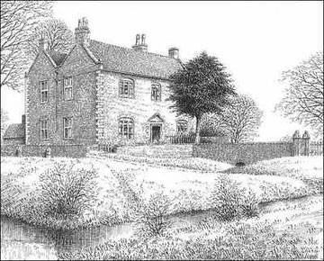 Peddimore Hall Farm drawn in 1948. Thanks for the use of this image to E W Green, Historic Buildings in Pen & Ink - The Work of William Albert Green. See Acknowledgements for a link to his site.