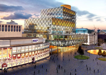 Building the fourth Central Library began in January 2010. Artist's impression.