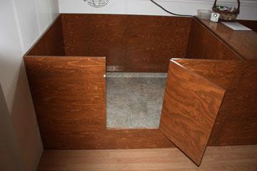 boîte d'accouchement 4x5 pieds