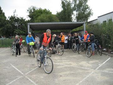 Start der Fahrradsponsorenrundfahrt