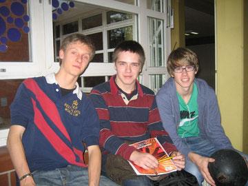 Philipp Schmalz, Torben Jähnsch und Lukas Leithäuser machten sich auf den Weg nach Westhagen